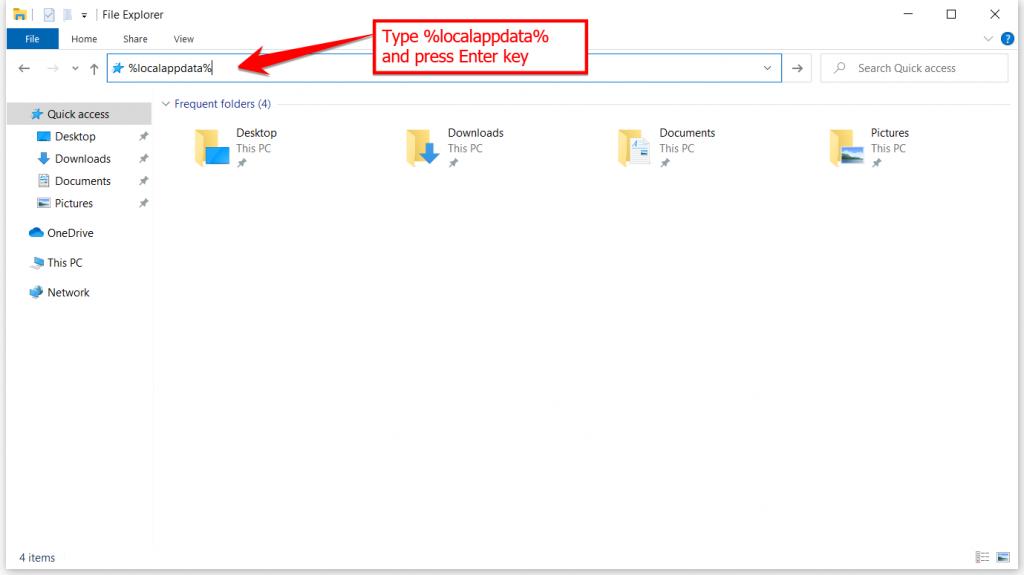 Windows Explorer Local App Data